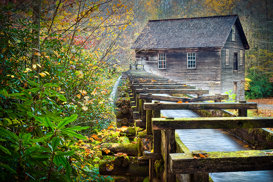 An old grinding mill in Virginia