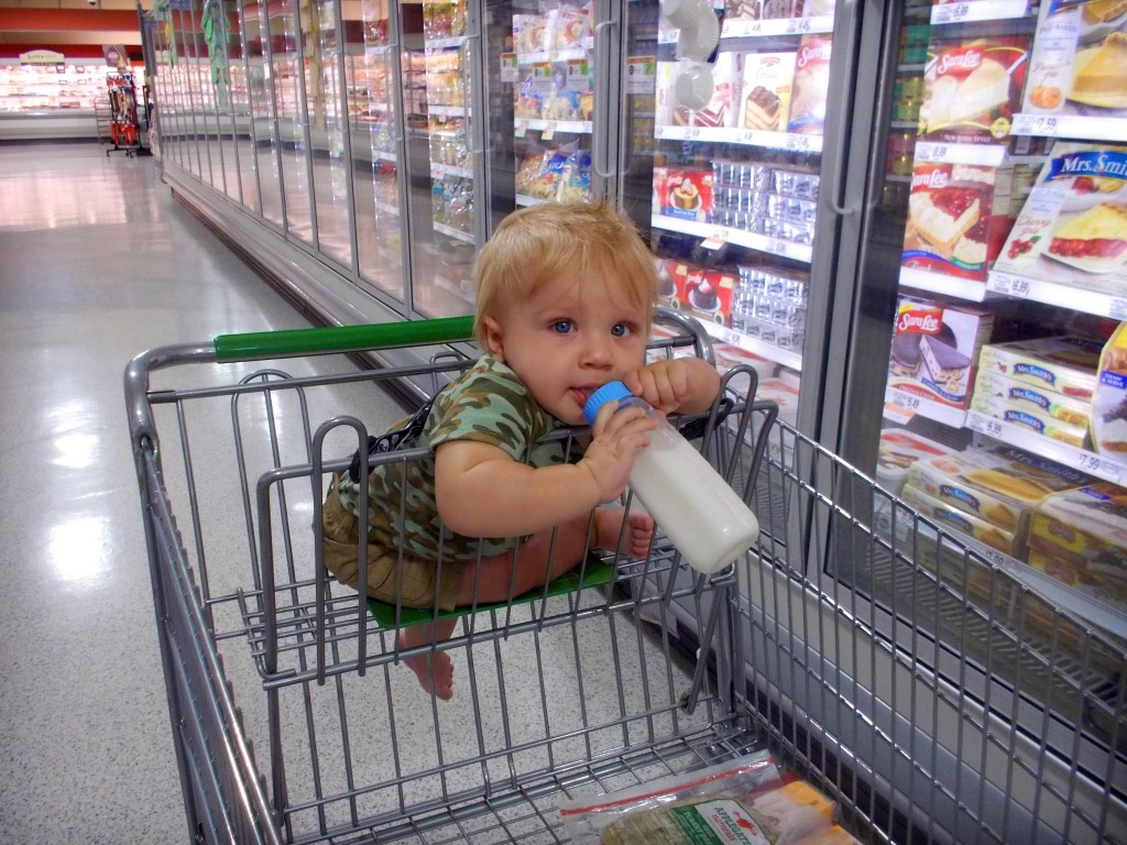 Child in cart