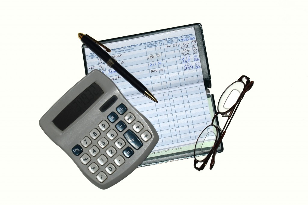 checkbook & calculator