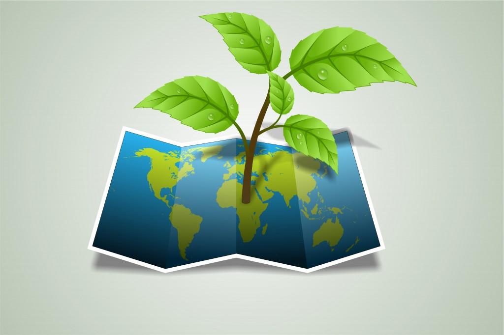 green-plant-map-world