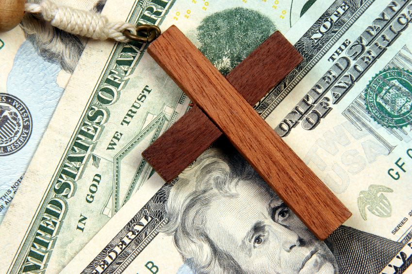 cross and money