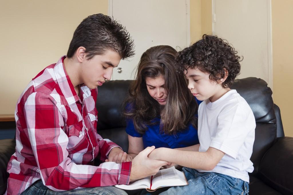 Christian Family Praying