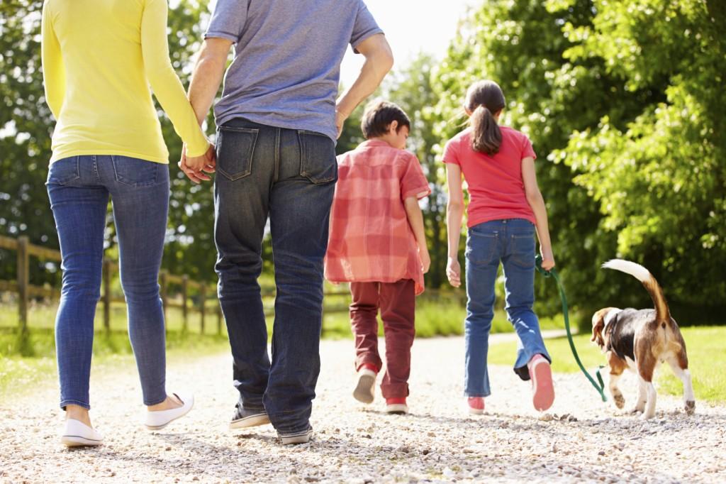 walking family