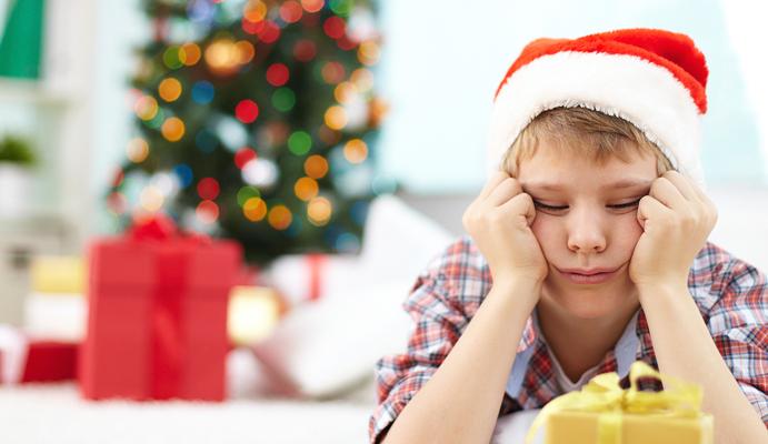 bored teen at Christmas