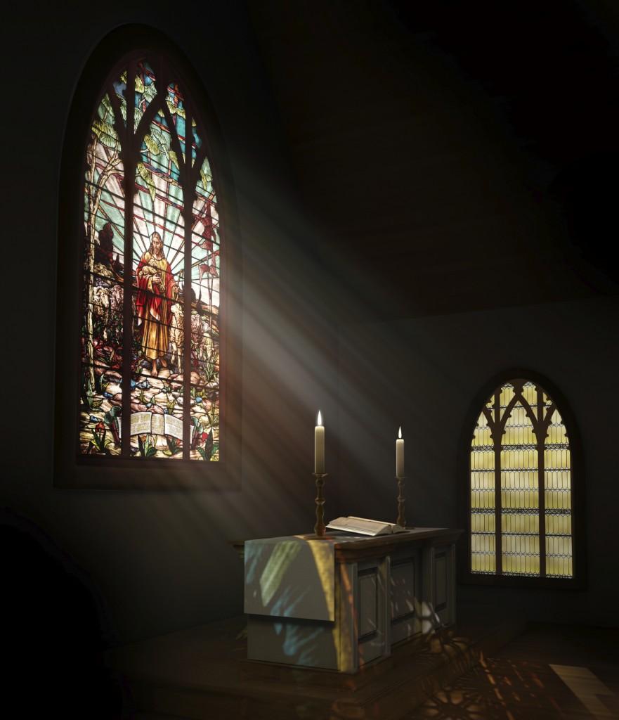 church-sun