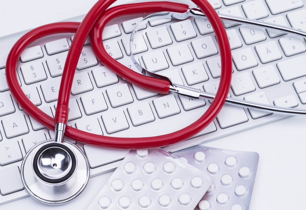 keyboard & stethoscope
