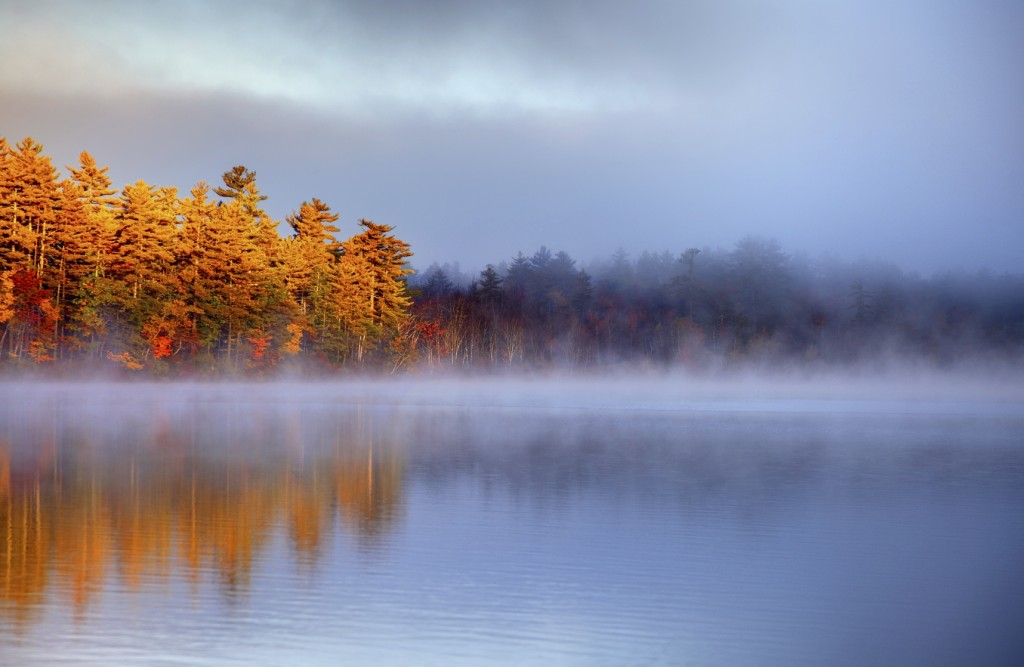 Autumn Light in the White Mountains of New Hampshire