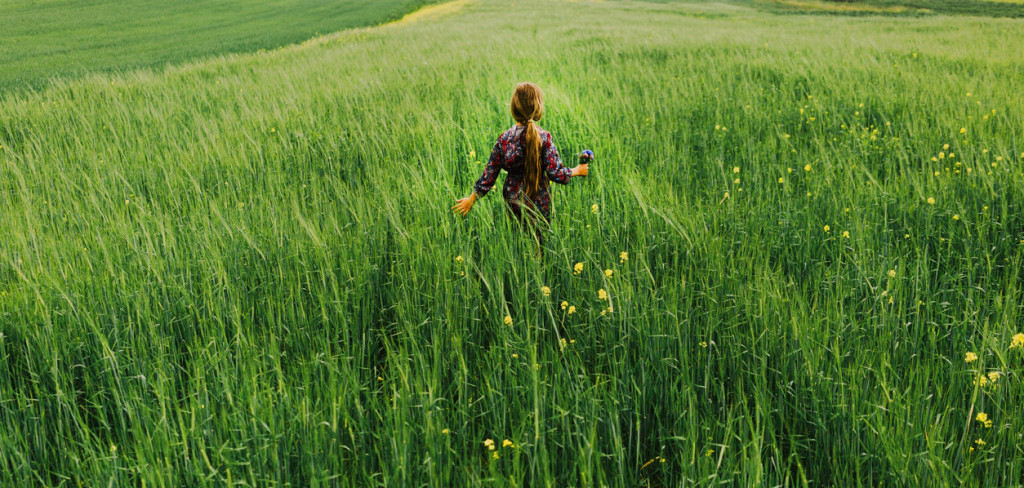 Little girl in the field