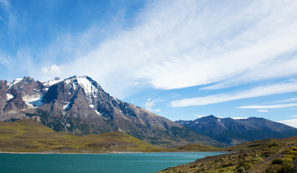 Scenic view of Pehoe lake in Torres del Paine