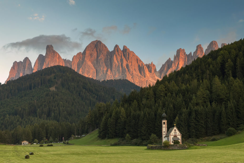 San Giovanni Church, Dolomites, Mountain, Springtime, European Alps, Famous Place